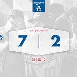 Mid 7: #Dodgers 7⃣, Padres 2⃣ ✋ https://t.co/9PDuA133AJ