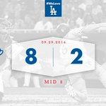 Mid 8: #Dodgers 8⃣, Padres 2⃣ 👐 https://t.co/iaBqI5Xjjl