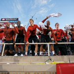 .@TexasTechMBB players painted their chests before the football game against Kansas. https://t.co/QHByyzxgk2