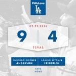 RECAP: #Dodgers take series finale from Padres in 9-4 victory. 👊 #WeLoveLA 🔗: https://t.co/g8Z0D4xvWU https://t.co/Gm90jnD24A