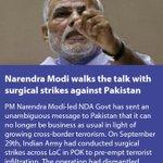 Narendra Modi walks the talk with surgical strikes against Pakistan https://t.co/MkGkJ4xpUD via NMApp https://t.co/Q6Ea3oKdkH