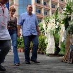 Ex-Defense Sec. Gibo Teodoro arrives at the wake of Sen. Miriam Defensor Santiago. https://t.co/AnJm4SFLTI