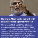Narendra Modi walks the talk with #SurgicalStrike against Pakistan https://t.co/pOtgUM9TfY via NMApp https://t.co/2SRRwCi0Au