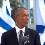 Obama is speaking about they importance of Zionism and the return of the Jews to their homeland #peresfuneral https://t.co/JERUfowNKK