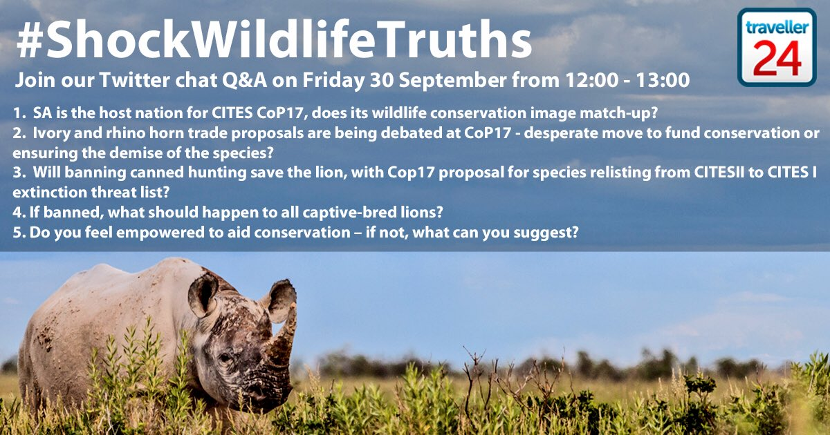 Counting down the last hour to our #ShockWildlifeTruths chat - can't wait to hear your thoughts on SA conservation https://t.co/9IyB7YIZs0
