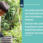 Je leert het beste over voeding met kooklessen, tuinieren op school, boederij- en bedrijfsbezoeken #jonglereneten. https://t.co/atP32Hl5Jf