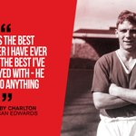 The great Duncan Edwards was born on this day in 1936. Read more about his lasting legacy at Old Trafford: https://t.co/ycMcL9WefD https://t.co/qCJ1ZejvAz