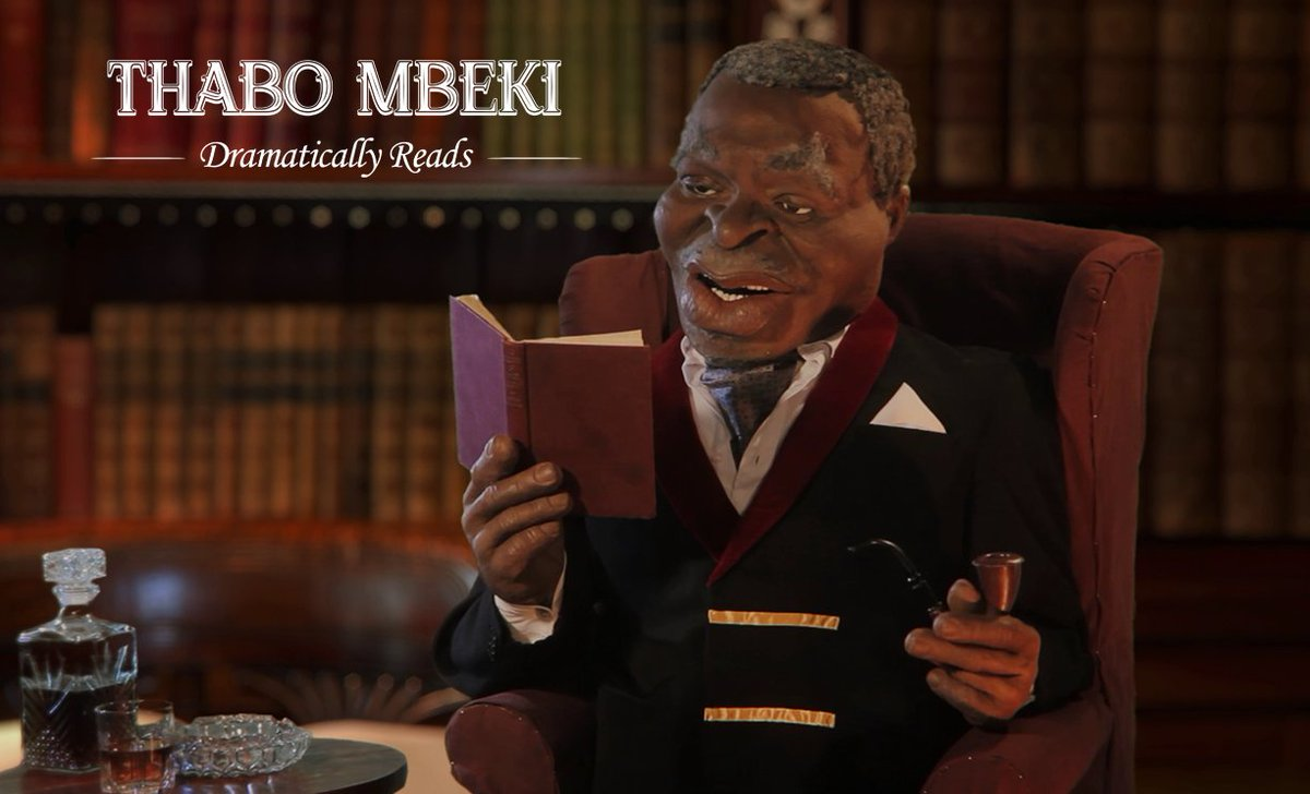 """Former President Thabo Mbeki reads us Mademoiselle Babes Wodumo's acclaimed work, """"Wololo."""" https://t.co/ZeOpmbQfza"""
