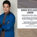 Dinner with Alden in London October 1, 2016 (5pm-8pm) ©Prismworks Productions | FB #ALDUBMaghihintay https://t.co/ceWo2EywSm
