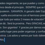 Unas palabritas que quería decirles.. GRACIAS! Ultimo esfuerzo y confíen 💪💛 #KCAArgentina #FlorVignaTrendy https://t.co/7qUrfWB9Sq