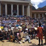 "Both groups are calling for UCT to open. The #FeesMustFall movement is however saying ""it cant only open for the privileged few"". https://t.co/armOaj7Qmc"
