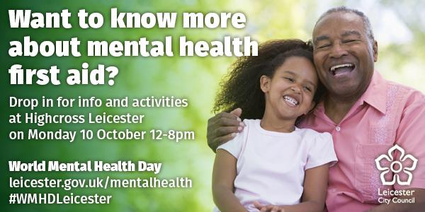 Want to know more about #mentalhealth first aid? #WMHDLeicester https://t.co/LROB8nU6io