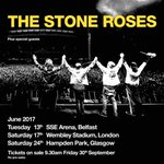 Retweet to win. 2 x Stone Roses tickets (standing) for Wembley (17th June). Winner picked Sunday 9pm https://t.co/34jmFwx910