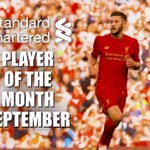 ⏱ 249 minutes played ⚽ 2 goals 👟⚽ 2 assists 🏆 1 @StanChart Player of the Month award  Well done, Adam Lallana! 👏 https://t.co/XYzGtiZK5H