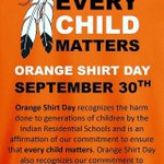 Every child matters today, on #OrangeShirtDay, and every day. https://t.co/xntSpQ1pNF