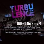 """GOT7 <FLIGHT LOG : TURBULENCE> """"하드캐리(Hard Carry)"""" Youtube M/V Views QUEST No.2 #GOT7 #TURBULENCE #하드캐리 https://t.co/s8SiWG9M0M"""