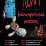 ¡Confirmado! ¡Korn harán dos conciertos en España en marzo! 🤓🤓  #Korn #KornFamily #Kornfans  https://t.co/2yw0ckdzmg https://t.co/RKmjpxUY19