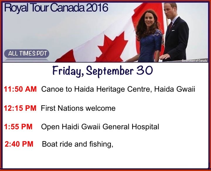 Here's your royal reminder for Friday's schedule. #RoyalVisitCanada https://t.co/6IUUz7xPJC