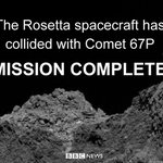 .@ESA_Rosettas final mission has come to an end #CometLanding https://t.co/xdCix8g7Yi https://t.co/07bVbBKaFN