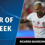 With 41% of the vote Ricardo Quaresma is your #UCL Player of the Week 👏 https://t.co/PUw41vNEMF