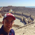 En el Anfiteatro Romano!  In the Roman Amphitheatre!  #EquipoRepsolEnTarragona #RepsolTeamInTarragona https://t.co/8cg3ppUybk
