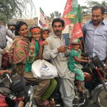 This family has come from Faisalabad on a motorcycle. I pray to Allah to help PTI rise to their expectations https://t.co/RNPD8BahbB