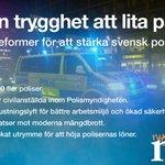 En trygghet att lita på. Våra reformer för att stärka svensk polis. #svpol https://t.co/uzZjslxgva