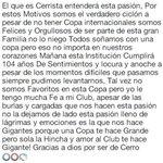 Gracias Dios por ser de Cerro 🔴🔵😍 #Cerro yo te quiero ver campeón ciclón ciclón 🏆 @CCP1912paraguay https://t.co/sUrTZI2kdP