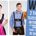 #WIN 2 TICKETS to @BrumOktoberfest 🍻🍺 at @cannonhillpark #Birmingham 12-16 Oct. Simply RT before 3/10 to enter! https://t.co/fKQE1bSpNR
