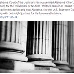 Ruling: Alabama Chief Justice Roy Moore suspended for the remainder of his term. @SDStuart_law recaps here: https://t.co/TbpDz88m8y https://t.co/vUozITYZPG