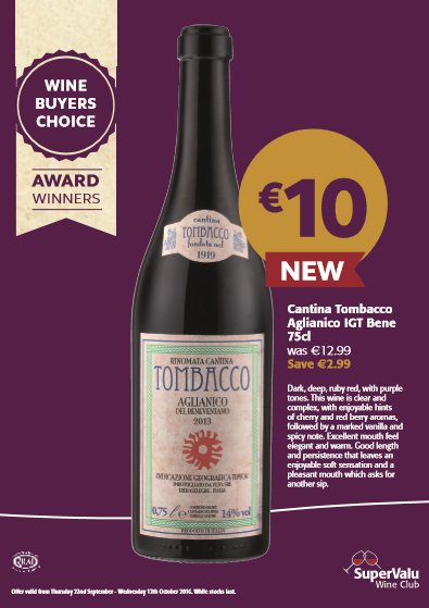 One of this months 'Wine of the Month' https://t.co/CrCWRsFc13