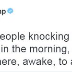 Moments ago, @realDonaldTrump tweeted about late-night tweeting and the 3 am phone call. https://t.co/g8aNKe7FkC