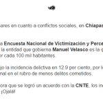 Chiapas es el estado más seguro, retomando información enero-diciembre 2015. #ChiapasElMásSeguro vía @Reforma https://t.co/61FNzKEitv