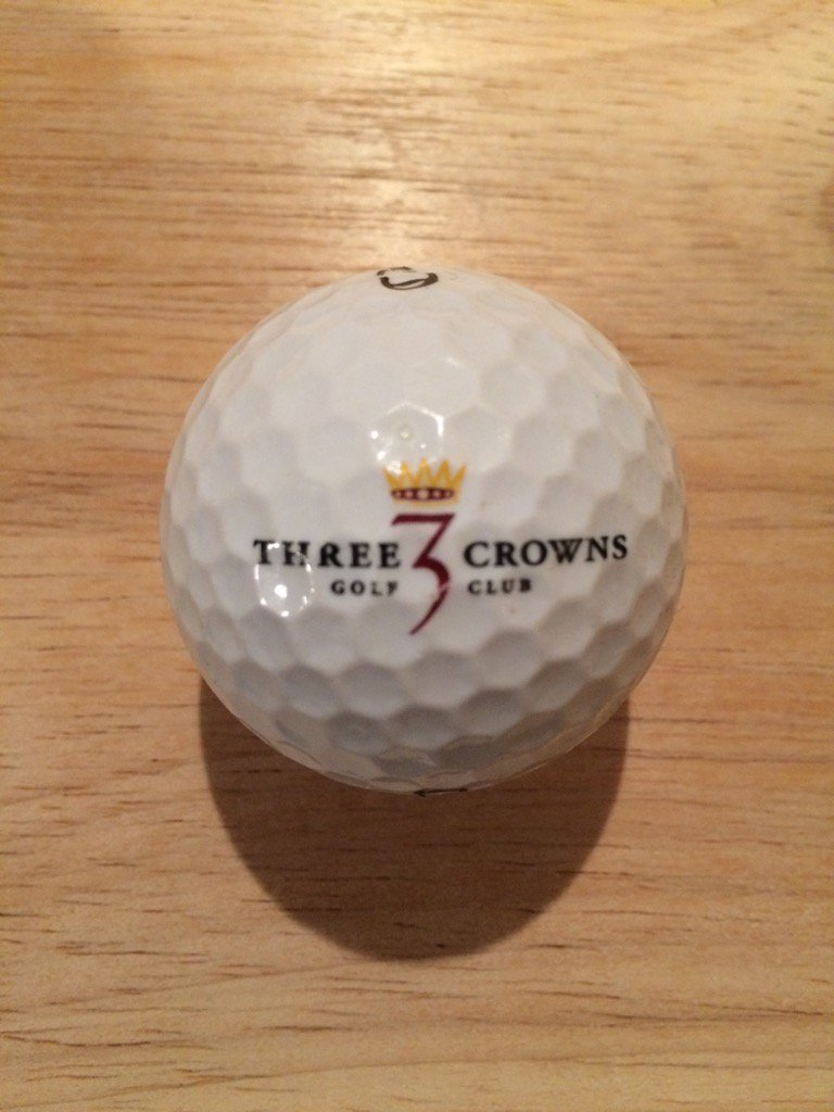 ⛳️ Logo Of The Day ⛳️ @ThreeCrowns Added your #logo #golf ball to my collection! #ThreeCrowns #Wyoming https://t.co/BssCpKYWlF