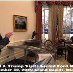 Donald J. Trump visits the Gerald Ford Museum in Grand Rapids, Michigan. #MAGA #AmericaFirst🇺🇸 https://t.co/P4O87JQccV