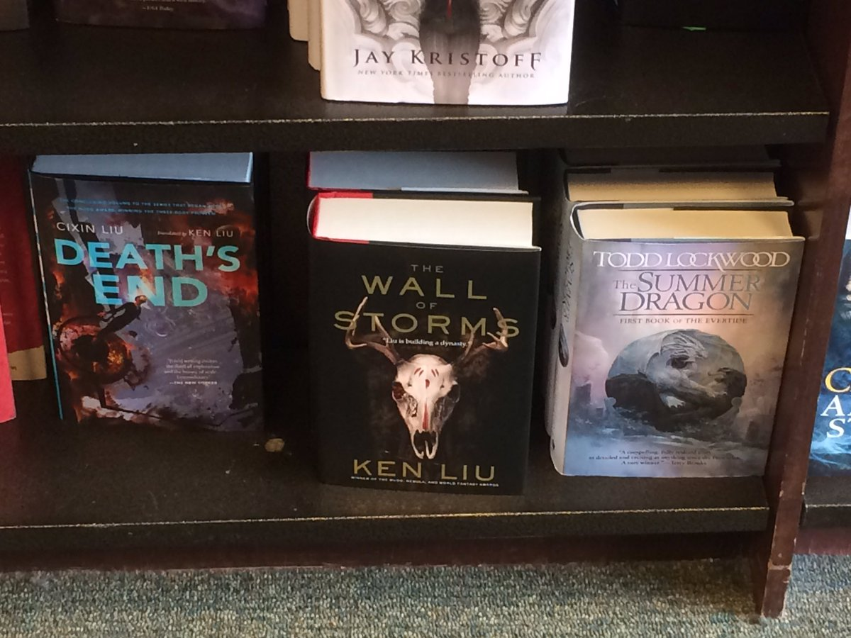 The Wall of Storms by @kyliu99 is out in the wilds early! Damn, that's a huge novel. Can't wait to read it. https://t.co/hZDVgrnT4s