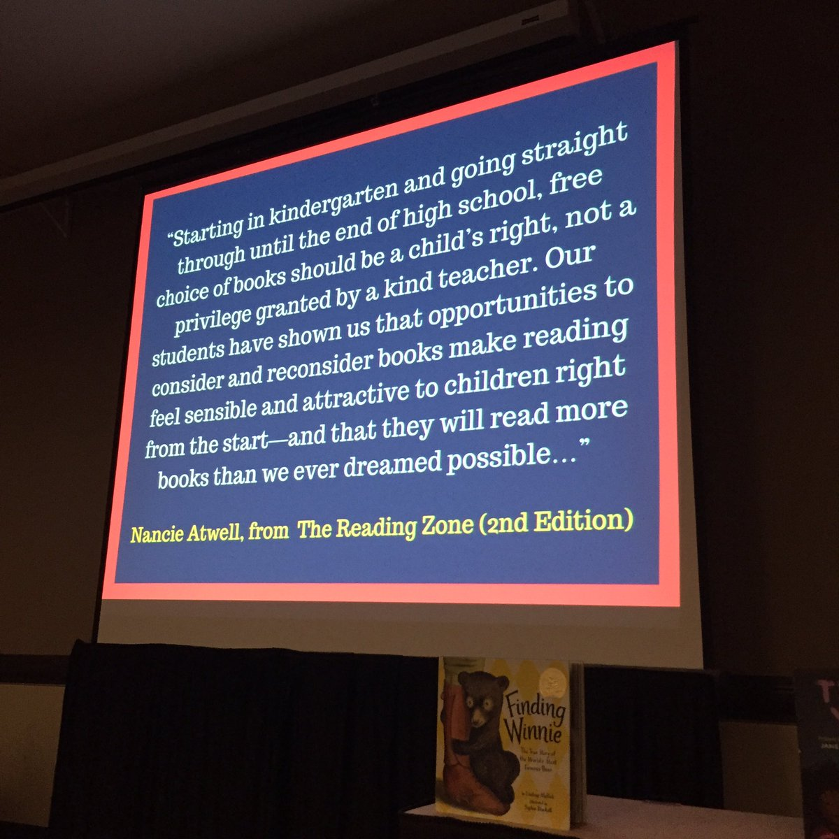 Important words from Nancie Atwell, shared by @MrSchuReads at #IRC2016. https://t.co/5Z9izERCOV