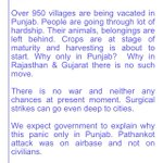 Why is Panic only in Punjab villages. No evacuation in Rajasthan & Gujrat. The Govt. should explain. https://t.co/HaTvhgUfwn
