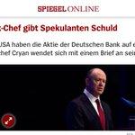 Witz des Tages: #DeutscheBank beklagt sich über Spekulanten. So viel Selbstironie hätte ich ihr gar nicht zugetraut. https://t.co/MajspfpZtj