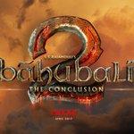 Logo of bahubali 2 the conclusion.. English.. https://t.co/VR1VsAXqnq