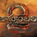 Logo of baahubali 2 the conclusion Telugu https://t.co/dDhMnJNQ2j
