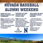 Nevada Baseball Alumni Weekend! Dont want to miss out sign up today! https://t.co/4bpTMhjkjD