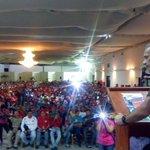 Estamos en la juramentacion de nuestras estructuras municipales del @PartidoPSUV #Lara con en camarada @FreddyBernal https://t.co/ntVfpRD9nQ