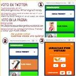 RT y VOTA para que @flor_vigna gane CHICA TRENDY! #KCAArgentina #FlorVignaTrendy https://t.co/XWmUlh2xZm