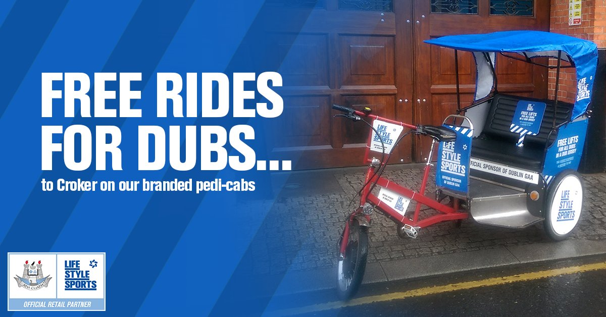 Headed to the match? We're giving jersey-wearing Dubs a free lift to Croker! Tweet @LifeStyleSports using #COYBIB https://t.co/d6hSpPPCzs