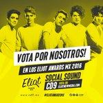 ¡Vota por nosotros en los #EliotAwardsMx, en la categoría #SocialSound! @EliotNewMedia https://t.co/YjbunZj80b https://t.co/3MdbptixOd
