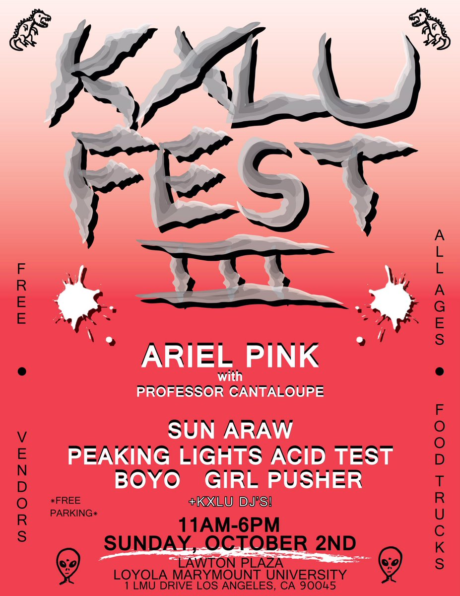 KXLU FEST III IS SUNDAY. BE THERE. https://t.co/tInsoRhIQ0