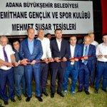 Kiremithane Gençlik ve Spor Kulübü tesislerinin açılışına katıldık. https://t.co/pceIgl45ai