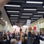 .@dielinkeberlin stimmt mit großer Mehrheit für die Aufnahme von Koalitionsverhandlungen. #r2g #linkelpt https://t.co/orsiRhAZnN