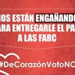 #DeCorazónVotoNO Salvemos a Colombia este 2 de octubre https://t.co/jRoIEbKpi3